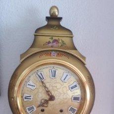 Relojes de pared: ANTIGUIO Y PRECIOSO RELOG ELUXA HECHO MADERA Y PINTAD MANO FONCIONA PERFECTO,TOCA LAS CAMPANAS AN 30. Lote 244495000