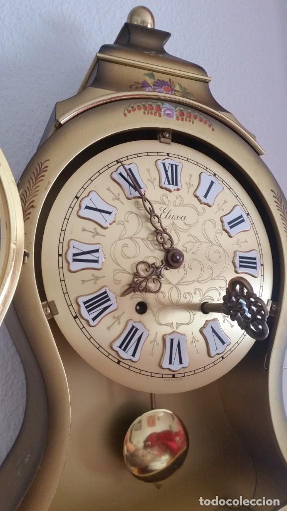 Relojes de pared: ANTIGUIO Y PRECIOSO RELOG ELUXA HECHO MADERA Y PINTAD MANO FONCIONA PERFECTO,TOCA LAS CAMPANAS AN 30 - Foto 4 - 244495000