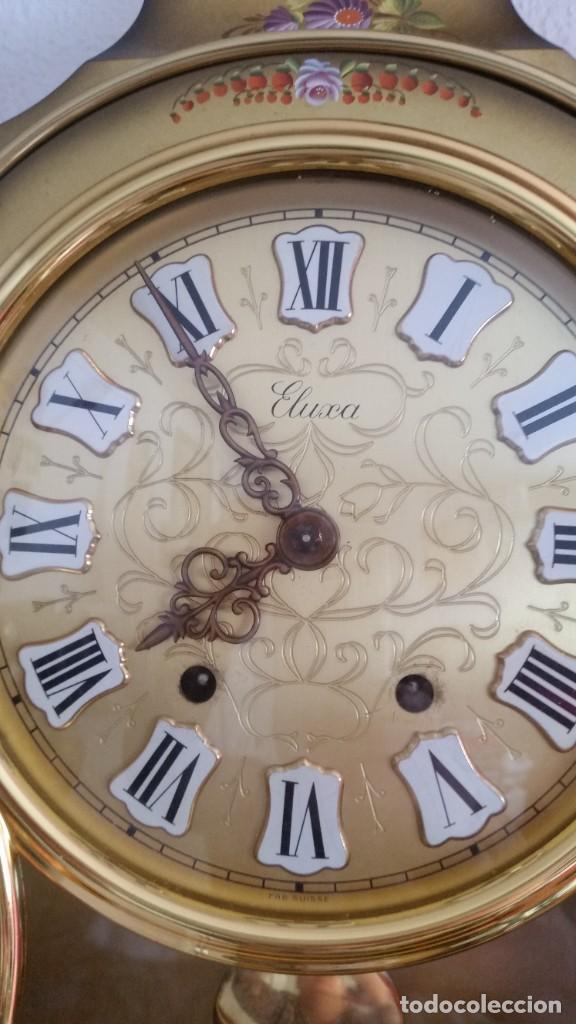 Relojes de pared: ANTIGUIO Y PRECIOSO RELOG ELUXA HECHO MADERA Y PINTAD MANO FONCIONA PERFECTO,TOCA LAS CAMPANAS AN 30 - Foto 6 - 244495000