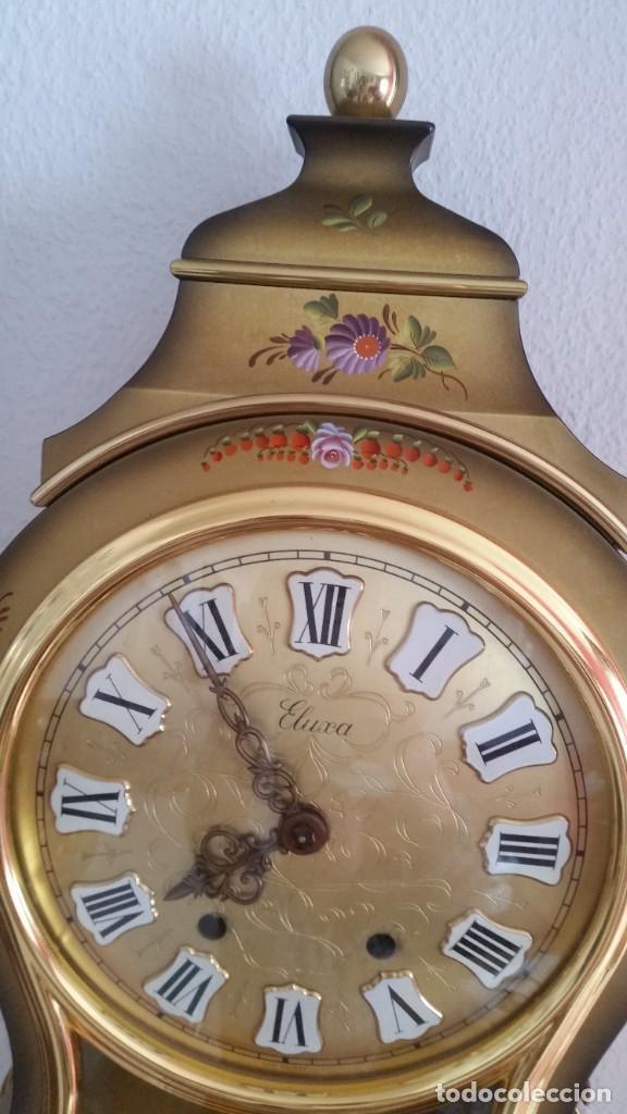 Relojes de pared: ANTIGUIO Y PRECIOSO RELOG ELUXA HECHO MADERA Y PINTAD MANO FONCIONA PERFECTO,TOCA LAS CAMPANAS AN 30 - Foto 7 - 244495000