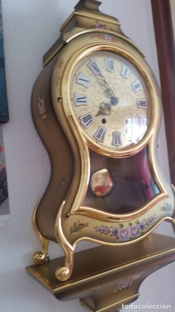 Relojes de pared: ANTIGUIO Y PRECIOSO RELOG ELUXA HECHO MADERA Y PINTAD MANO FONCIONA PERFECTO,TOCA LAS CAMPANAS AN 30 - Foto 8 - 244495000