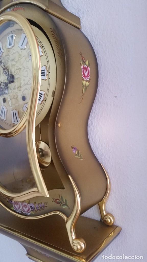 Relojes de pared: ANTIGUIO Y PRECIOSO RELOG ELUXA HECHO MADERA Y PINTAD MANO FONCIONA PERFECTO,TOCA LAS CAMPANAS AN 30 - Foto 9 - 244495000