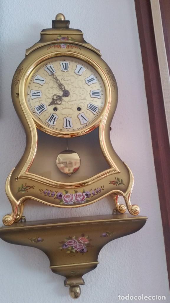 Relojes de pared: ANTIGUIO Y PRECIOSO RELOG ELUXA HECHO MADERA Y PINTAD MANO FONCIONA PERFECTO,TOCA LAS CAMPANAS AN 30 - Foto 11 - 244495000