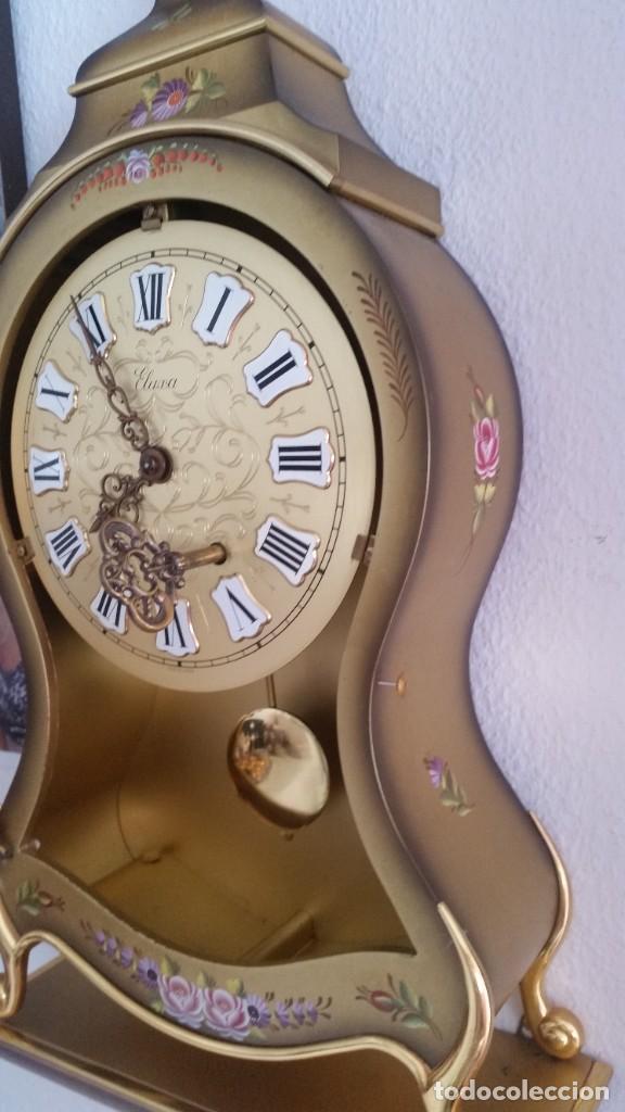 Relojes de pared: ANTIGUIO Y PRECIOSO RELOG ELUXA HECHO MADERA Y PINTAD MANO FONCIONA PERFECTO,TOCA LAS CAMPANAS AN 30 - Foto 14 - 244495000