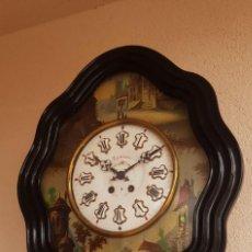 Relojes de pared: IMPONENTE RELOJ OJO BUEY ANTIGUO CASI A ESTRENAR CON PINTURAS Y NÁCAR FUNCIONA DE MUSEO!!!. Lote 246141630