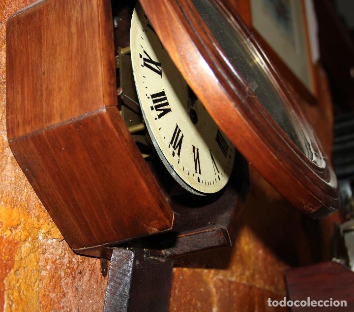 Relojes de pared: ANTIGUO RELOJ DE PARED OJO DE BUEY DE PEQUEÑO TAMAÑO - Foto 3 - 246528205