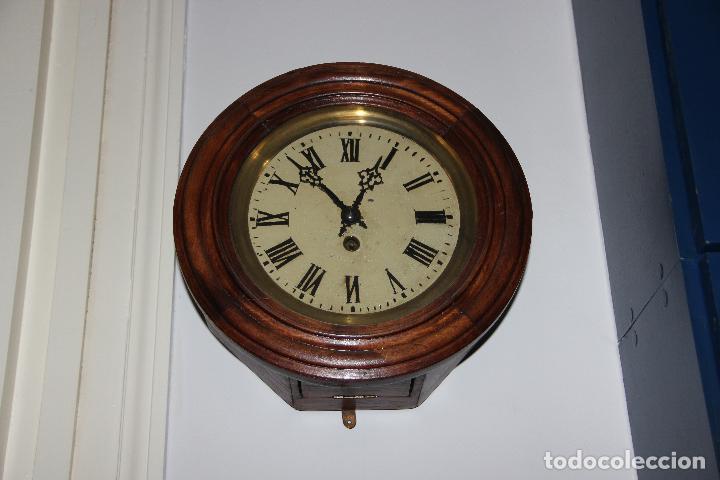 Relojes de pared: ANTIGUO RELOJ DE PARED OJO DE BUEY DE PEQUEÑO TAMAÑO - Foto 6 - 246528205