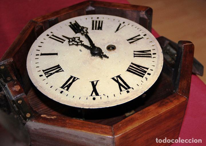 Relojes de pared: ANTIGUO RELOJ DE PARED OJO DE BUEY DE PEQUEÑO TAMAÑO - Foto 10 - 246528205