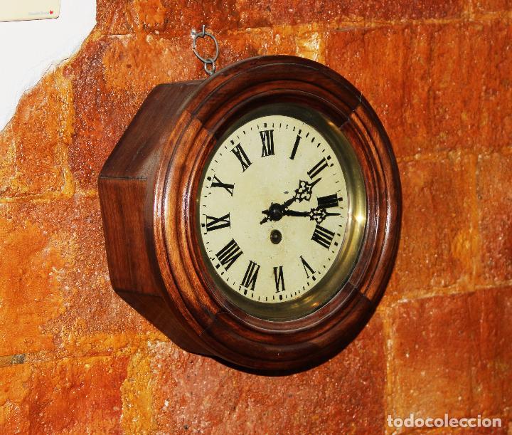 Relojes de pared: ANTIGUO RELOJ DE PARED OJO DE BUEY DE PEQUEÑO TAMAÑO - Foto 17 - 246528205