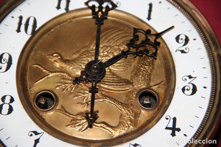 Relojes de pared: ANTIGUA MAQUINA DE RELOJ DE PARED PHS - Foto 4 - 246534200