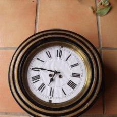 Relojes de pared: ¡¡¡GRAN OFERTA !!! ANTIGUO RELOJ REDONDO DE ESCUELA-AÑO 1880-FUNCIONA. Lote 246673065