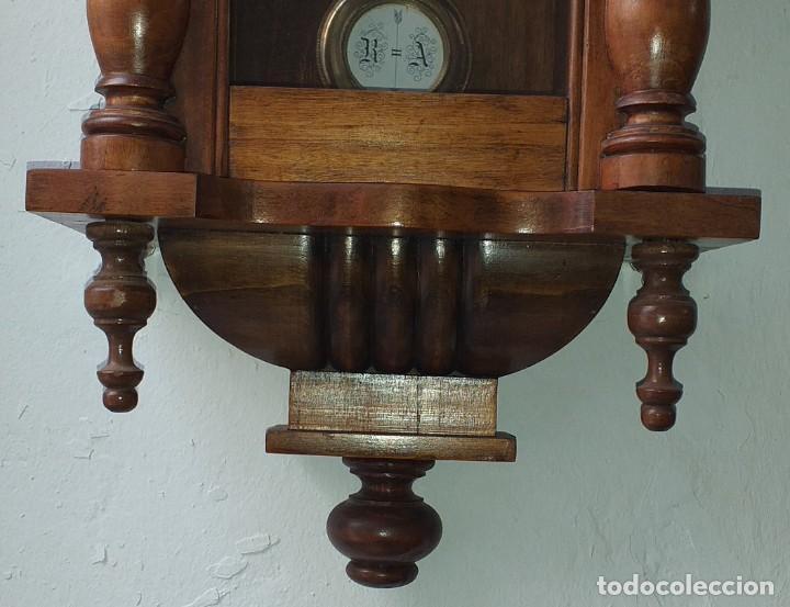 Relojes de pared: RELOJ DE PARED PRIMER CUARTO SIGLO XX MARCA KIENZLE - FUNCIONA - Foto 4 - 246823485