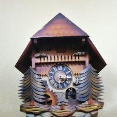 Relojes de pared: RELOJ CUCU-CUCO MUSICAL CON BAILARINES Y RUEDA DE MOLINO MÓVIL.MADE IN WEST GERMANY.. Lote 247505780
