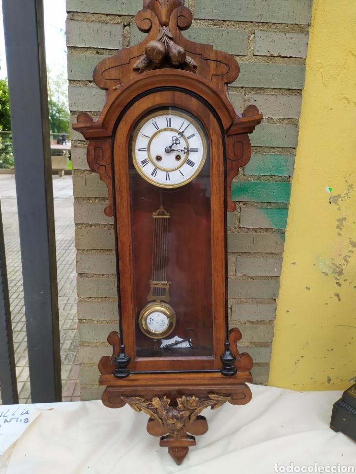 IMPRESIONANTE RELOJ ALFONSINO SIGLO XIX (Relojes - Pared Carga Manual)