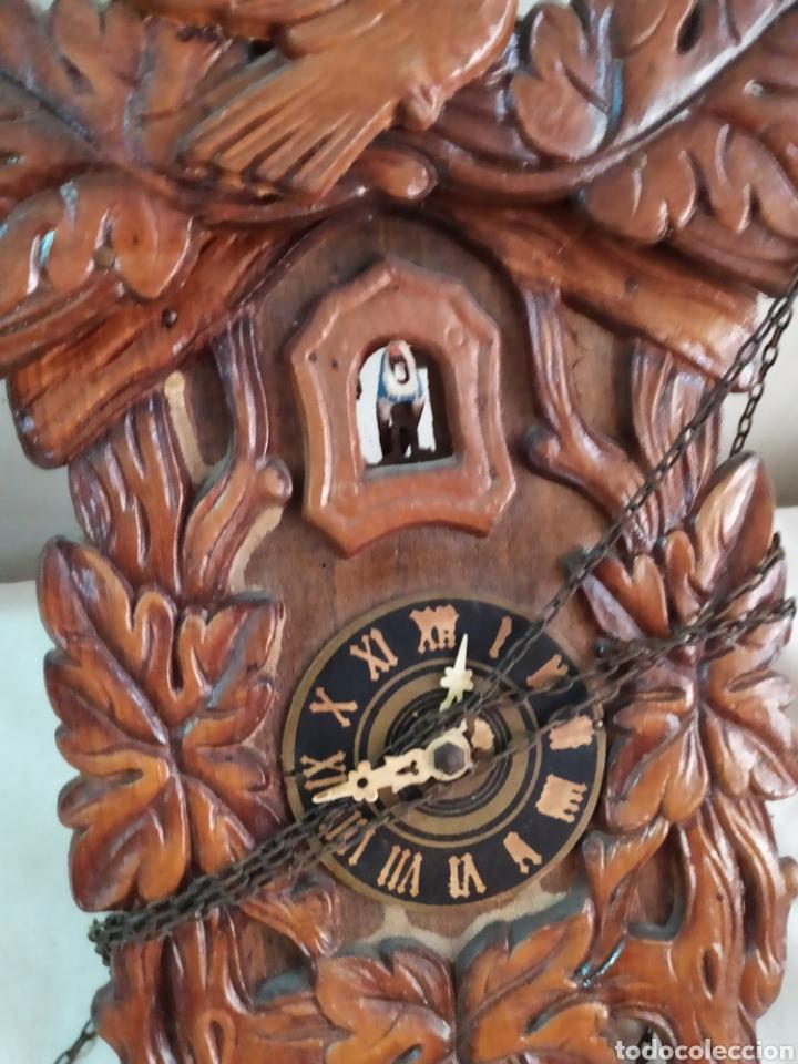 ANTIQUÍSIMO Y RARO RELOJ CUCÚ MINIATURA (Relojes - Pared Carga Manual)