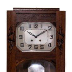 Relojes de pared: ANTIGUO RELOJ DE PARED ORIGEN FRANCÉS, Y FUNCIONANDO.. Lote 249024020