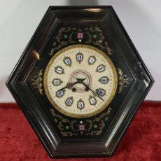 Relojes de pared: RELOJ DE PARED. OJO DE BUEY. ESTILO ISABELINO. FRANCIA. SIGLO XIX.. Lote 250350745