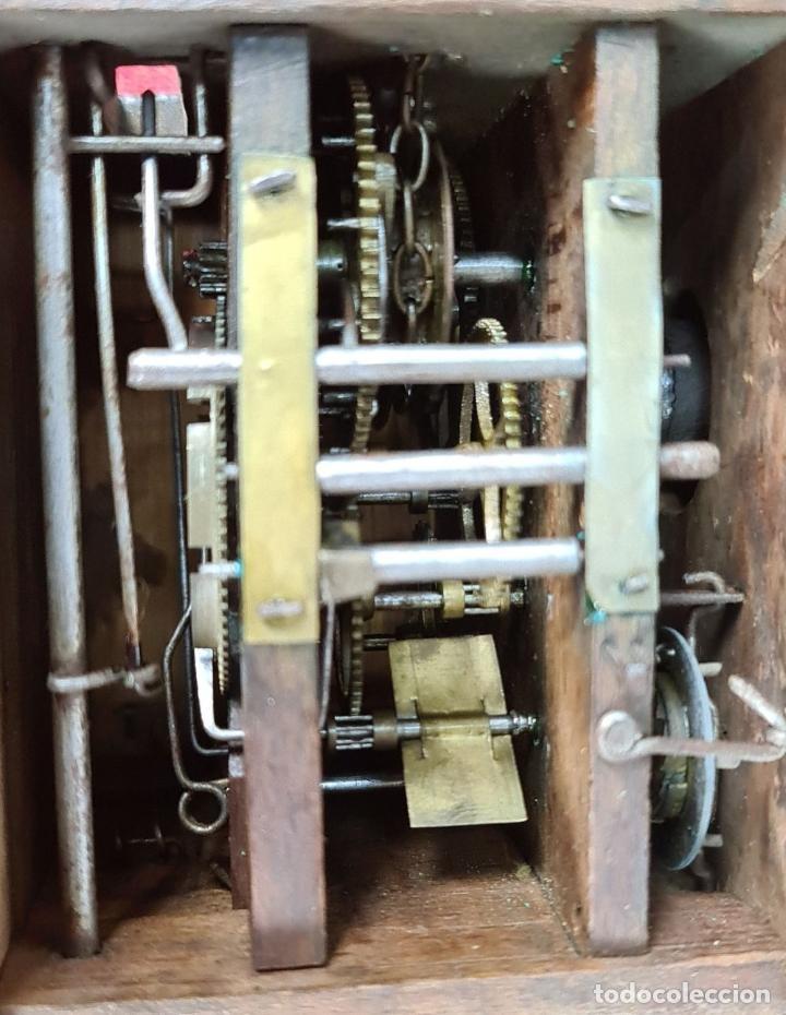 Relojes de pared: RELOJ DE PARED. FRONTAL DE PORCELANA ESMALTADA. ALEMANIA. SIGLO XIX. - Foto 3 - 251016870