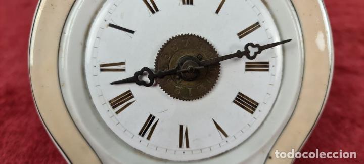 Relojes de pared: RELOJ DE PARED. FRONTAL DE PORCELANA ESMALTADA. ALEMANIA. SIGLO XIX. - Foto 4 - 251016870