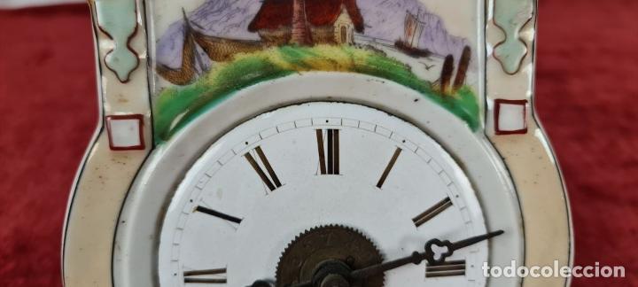 Relojes de pared: RELOJ DE PARED. FRONTAL DE PORCELANA ESMALTADA. ALEMANIA. SIGLO XIX. - Foto 7 - 251016870