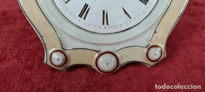 Relojes de pared: RELOJ DE PARED. FRONTAL DE PORCELANA ESMALTADA. ALEMANIA. SIGLO XIX. - Foto 8 - 251016870