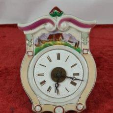 Relojes de pared: RELOJ DE PARED. FRONTAL DE PORCELANA ESMALTADA. ALEMANIA. SIGLO XIX.. Lote 251016870