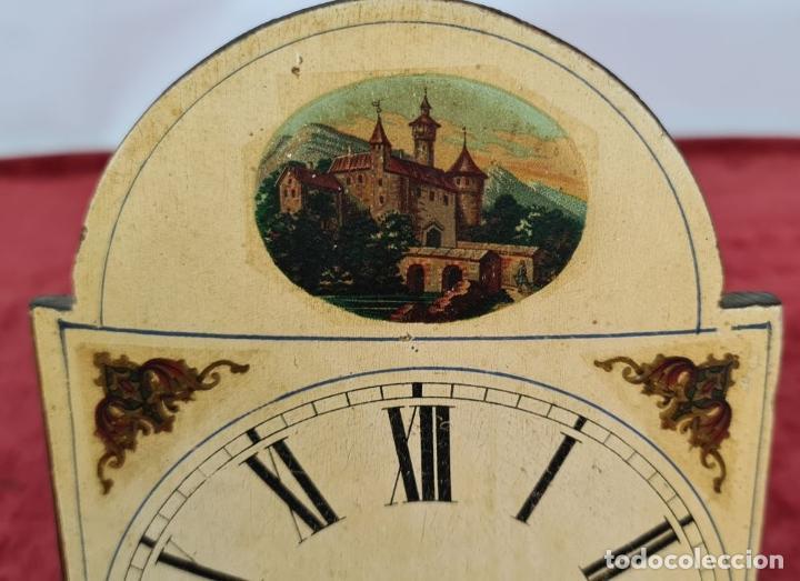 Relojes de pared: RELOJ DE PARED EN MADERA. RATERA. LA SELVA NEGRA. ALEMANIA. SIGLO XIX. - Foto 3 - 251114710