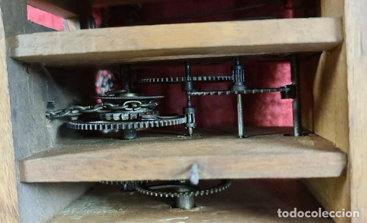 Relojes de pared: RELOJ DE PARED EN MADERA. RATERA. LA SELVA NEGRA. ALEMANIA. SIGLO XIX. - Foto 10 - 251114710