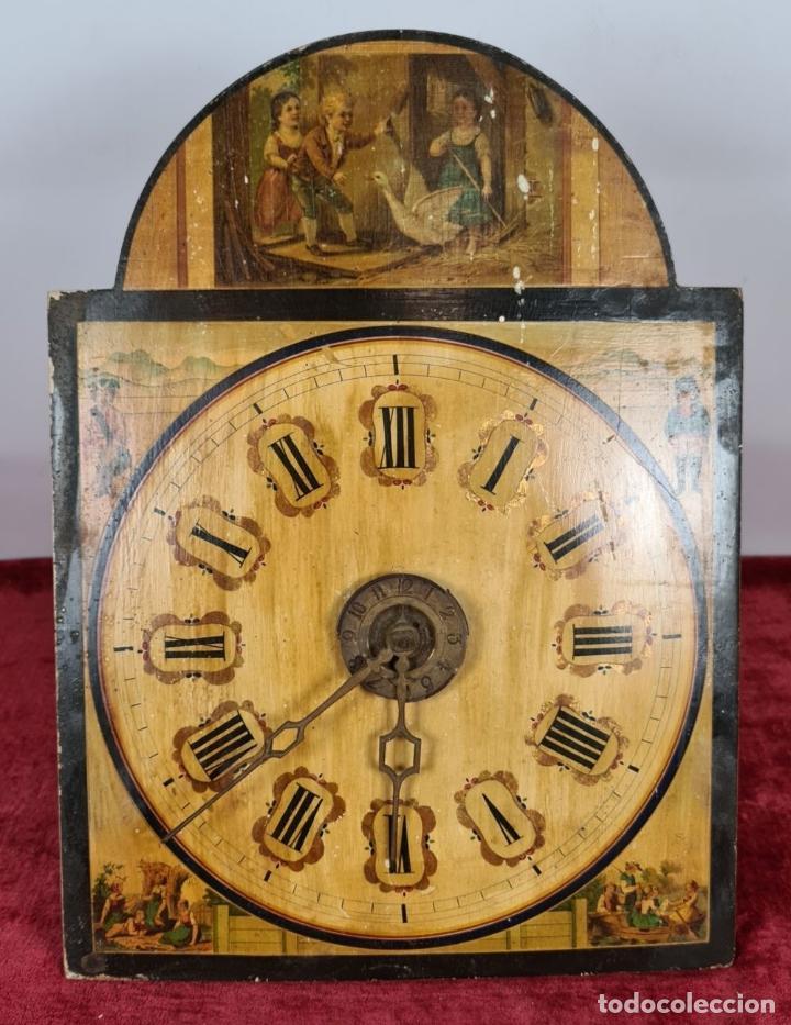 Relojes de pared: RELOJ DE PARED. RATERA. FRONTAL DE MADERA. SELVA NEGRA. ALEMANIA. SIGLO XIX. - Foto 2 - 251807440