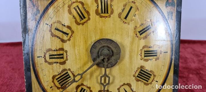 Relojes de pared: RELOJ DE PARED. RATERA. FRONTAL DE MADERA. SELVA NEGRA. ALEMANIA. SIGLO XIX. - Foto 5 - 251807440