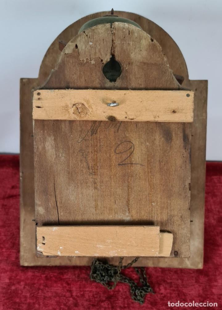 Relojes de pared: RELOJ DE PARED. RATERA. FRONTAL DE MADERA. SELVA NEGRA. ALEMANIA. SIGLO XIX. - Foto 6 - 251807440