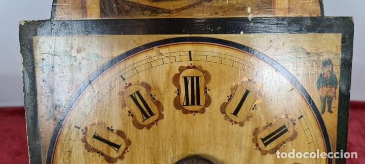Relojes de pared: RELOJ DE PARED. RATERA. FRONTAL DE MADERA. SELVA NEGRA. ALEMANIA. SIGLO XIX. - Foto 8 - 251807440