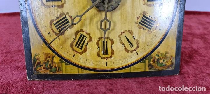 Relojes de pared: RELOJ DE PARED. RATERA. FRONTAL DE MADERA. SELVA NEGRA. ALEMANIA. SIGLO XIX. - Foto 9 - 251807440