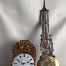 Horloges murales: ANTIGUO RELOJ MOREZ CON PÉNDULO DE LIRA ESPECTACULAR. Lote 252079590