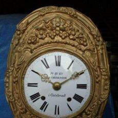 Relojes de pared: ANTIGUA MAQUINARIA MOREZ DE PESAS -PERFECTO ESTADO-AÑO 1870-FUNCIONA LOTE 375. Lote 252512210