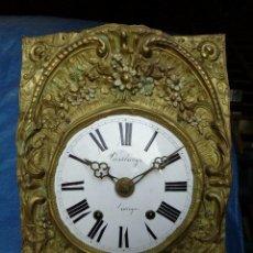 Relojes de pared: PRECIOSA MAQUINARIA POLICROMADA PARA RELOJ MOREZ DE PESAS- AÑO 1890-LOTE 375 -FUNCIONA. Lote 252513005