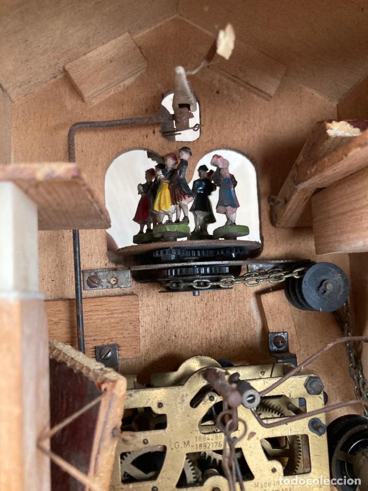 Relojes de pared: Antiguo reloj cucu,bailarines y caja muzica! - Foto 10 - 253556120