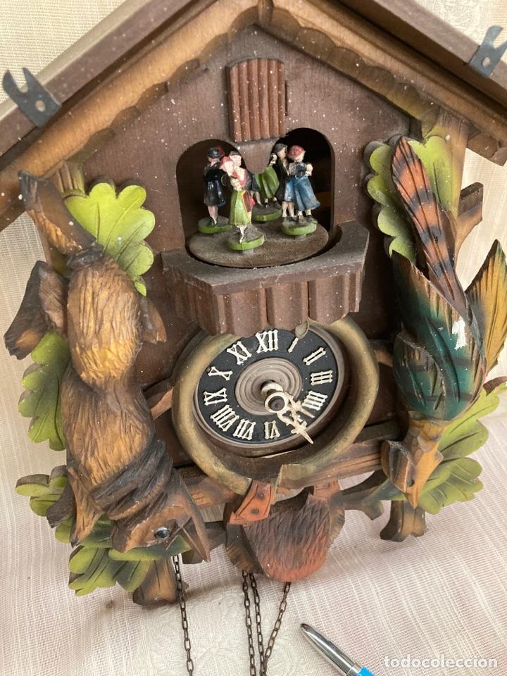 ANTIGUO RELOJ CUCU,BAILARINES Y CAJA MUZICA! (Relojes - Pared Carga Manual)