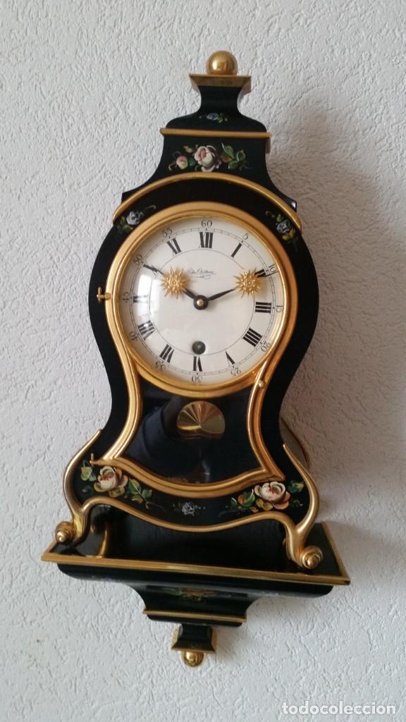 Relojes de pared: PRECIOSO Y ANTIGUIO RELOG DE PAREDE ,DU Chateaux MADE SUIZA HECHO EN LALIKE PINTADO A MANO ANOS 40. - Foto 7 - 253855745