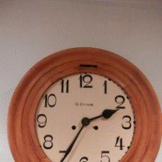 Relojes de pared: RELOJ DE PARED ALEMÁN MARCA C. COPPEL ANTIGUO CARGA MANUAL FUNCIONANDO REDONDO GRAN TAMAÑO 39 CENT.. Lote 253996160
