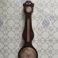 Relojes de pared: OCASION COLECCIONISTAS ! ANTIGUO RELOJ DE PARED BARÓMETRO INGLES. V. SANTY, CREWKERNE AÑOS 60 70 ?. Lote 255510210