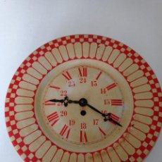 Relojes de pared: ANTIGUO RELOJ DE PARED CARGA MANUAL , TODO ENTERO DE CHAPA, 33 CM DE DIÁMETRO. Lote 255521285