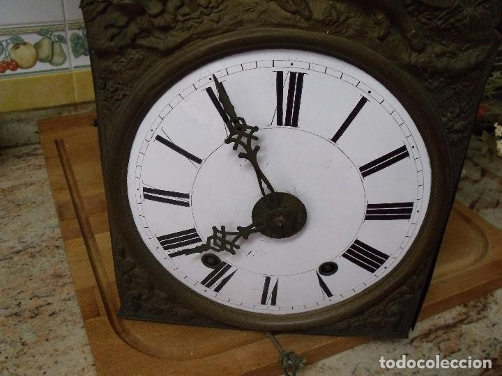 Relojes de pared: ANTIQUISIMA MAQUINARIA MOREZ PESAS-AÑO 1860-FUNCION DESPERTADOR-2 MARTILLOS-FUNCIONA-LOTE 334 - Foto 3 - 260402245