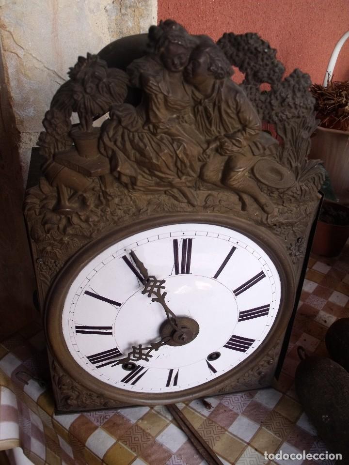 Relojes de pared: ANTIQUISIMA MAQUINARIA MOREZ PESAS-AÑO 1860-FUNCION DESPERTADOR-2 MARTILLOS-FUNCIONA-LOTE 334 - Foto 4 - 260402245
