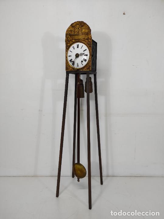 Relojes de pared: Reloj de Pared - Maquina Morez - Sonería de Campana - Funciona - Completo - S. XIX - Foto 2 - 260695520