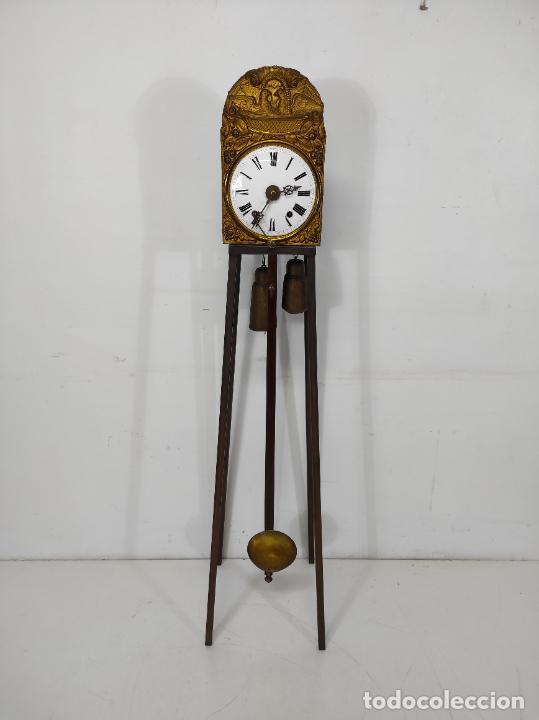 Relojes de pared: Reloj de Pared - Maquina Morez - Sonería de Campana - Funciona - Completo - S. XIX - Foto 7 - 260695520