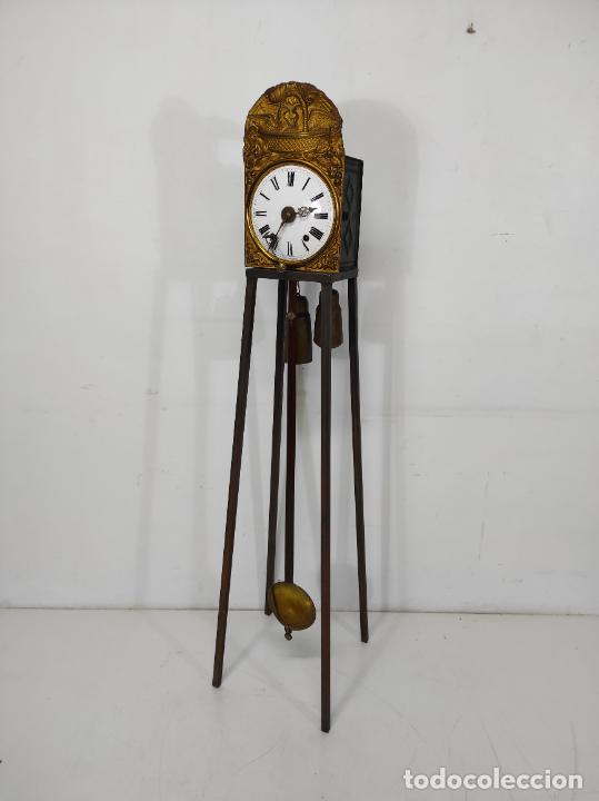 Relojes de pared: Reloj de Pared - Maquina Morez - Sonería de Campana - Funciona - Completo - S. XIX - Foto 15 - 260695520