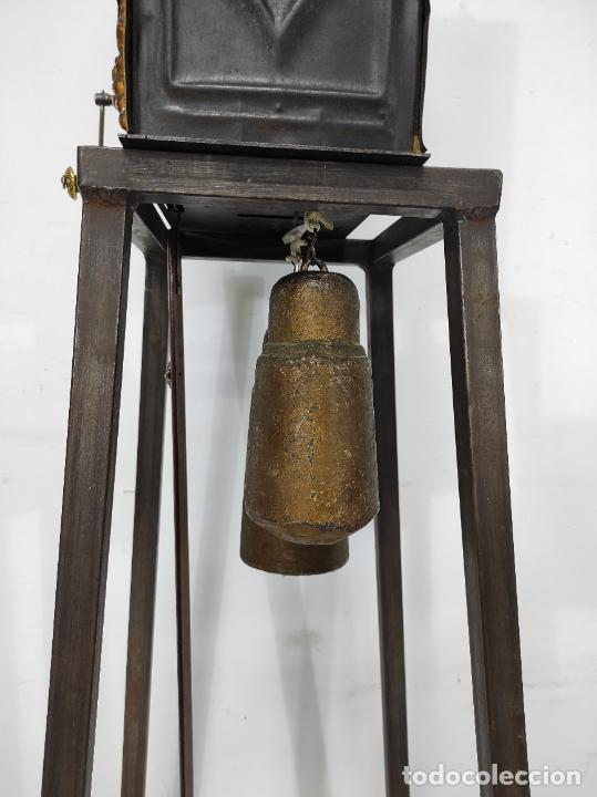 Relojes de pared: Reloj de Pared - Maquina Morez - Sonería de Campana - Funciona - Completo - S. XIX - Foto 16 - 260695520