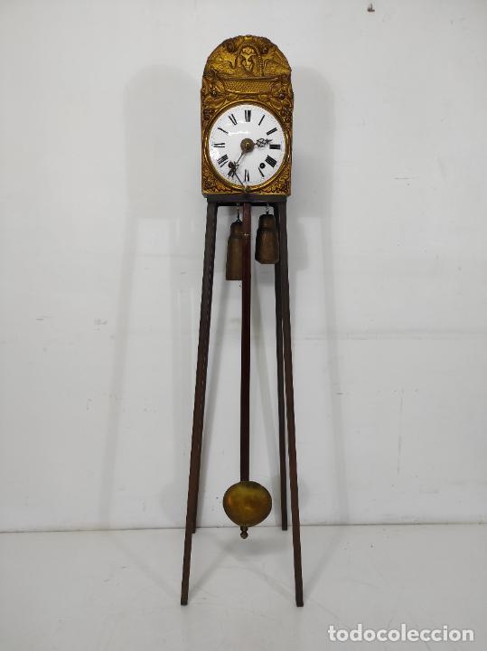 RELOJ DE PARED - MAQUINA MOREZ - SONERÍA DE CAMPANA - FUNCIONA - COMPLETO - S. XIX (Relojes - Pared Carga Manual)