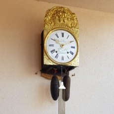 Relojes de pared: RELOJ MOREZ ANTIGUO DE CAMPANA MUY DETALLADO BUEN ESTADO FUNCIONA ALTA COLECCIÓN. Lote 261208520